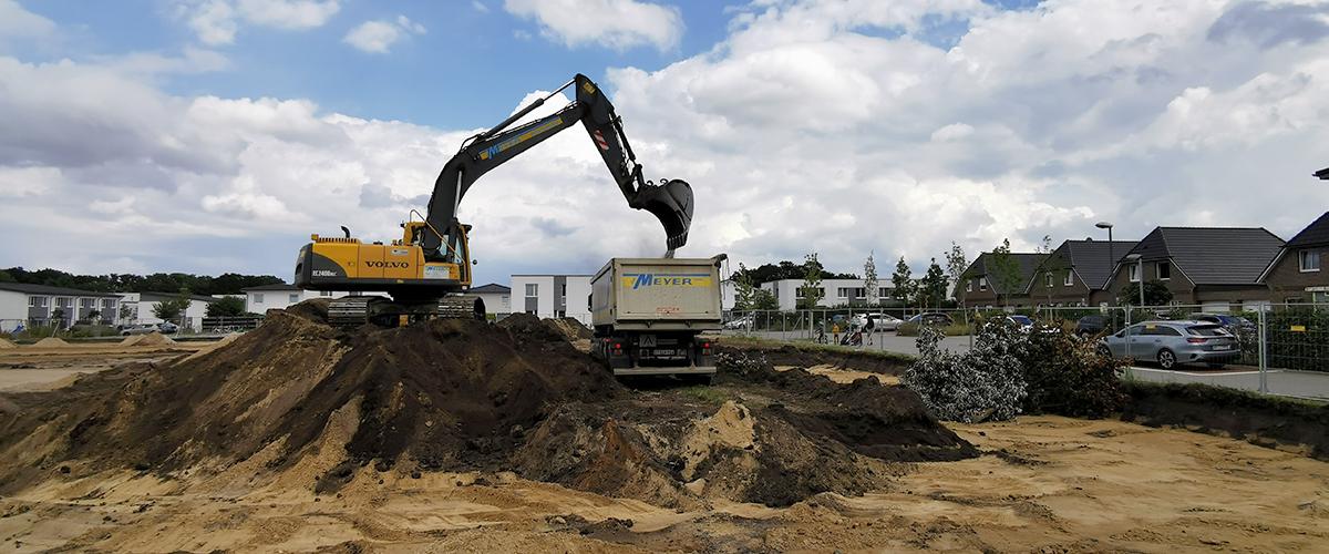 Gebr. Meyer, Buxtehude Region Stade, Baustofflieferung, Abfuhr, Erdarbeiten, Transporte